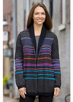 Fair Isle Alpaca Wool Coat