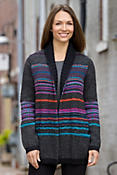 Women's Fair Isle Alpaca Wool Coat
