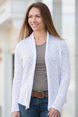Indigenous Classic Sheer Organic Cotton Cardigan Sweater