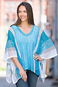 Indigenous Netted Organic Cotton Poncho