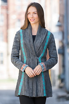 Indigenous D2W Alpaca Wool-Blend Cardigan Sweater