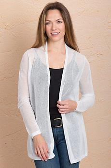 Indigenous Netted Handmade Organic Cotton Cardigan Sweater
