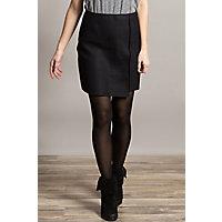 Black Peruvian Alpaca-Blend Wool Skirt