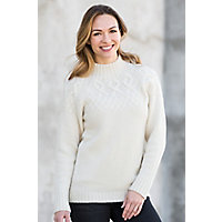 Zoey Cashmere Cable Sweater, IVORY