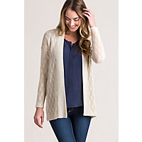 Corinne Textured Alpaca Wool-Blend Cardigan Sweater