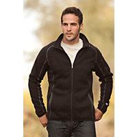Men's Kuhl Scandinavian Full-Zip Fleece Jacket, Black, Size Medium (39-41) Western & Country