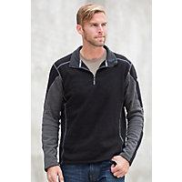 Men's Kuhl Revel 1 / 4-Zip Fleece Pullover, Black / Steel, Size Xlarge (44-47) Western & Country