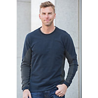 Men's Kuhl Kontendr Organic Cotton Pullover, Midnight Blue, Size Medium (39-41) Western & Country