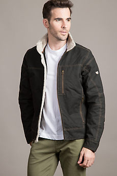 Kuhl Burr Canvas Jacket with Berber Fleece Trim