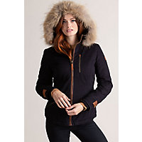 Image of Aisling Cotton-Blend Jacket with Raccoon Fur Trim
