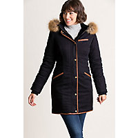 Image of Aisling Cotton-Blend Parka with Raccoon Fur Trim