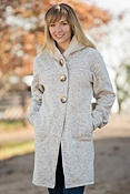 Women's Reesa Hooded Fleece Sweater Coat
