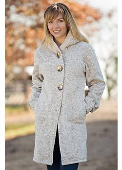 Women's Reesa Hooded Fleece Sweater Coat