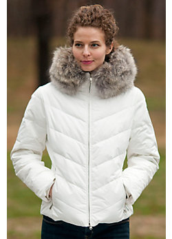 Women's M. Miller Amy Down Jacket with Coyote Fur Trim
