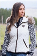 Women's M. Miller Molly Vest with Raccoon Fur Trim