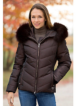 Women's M. Miller Sophie Down Jacket with Detachable Raccoon Fur Hood