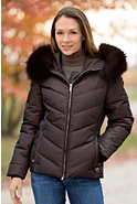 M. Miller Sophie Down Jacket with Detachable Raccoon Fur Hood