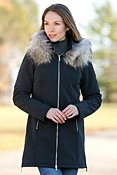 Women's M. Miller Astrid Hooded Jacket with Raccoon Fur Trim