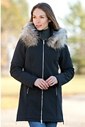 M. Miller Astrid Hooded Jacket with Raccoon Fur Trim