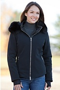 Women's M. Miller Alize Hooded Jacket with Detachable Fox Fur Trim