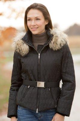 M. Miller Paula Parka with Raccoon Fur Trim
