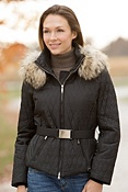 Women's M. Miller Paula Parka with Raccoon Fur Trim