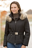 M. Miller Paula Parka with Raccoon Fur Trim