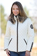 Women's M. Miller Kayla Jacket with Raccoon Fur Trim