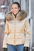 Women's M. Miller Margot Down Parka with Raccoon Fur Trim