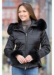 Women's M. Miller Kora Jacket with Fox Fur Trim