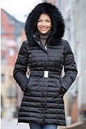M. Miller Cali Down Coat with Raccoon Fur Trim