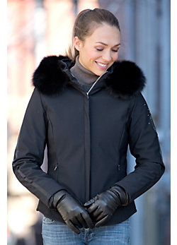Women's M. Miller Casey Jacket with Fox Fur Trim