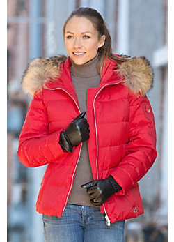Women's M. Miller Elise Parka with Raccoon Fur Trim