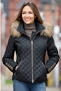 Women's M. Miller Katya Ski Jacket with Raccoon Fur Trim