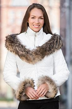 M. Miller Livia Jacket with Raccoon Fur Trim