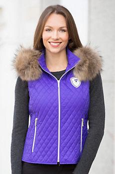 M. Miller Ava Vest With Raccoon Fur Trim