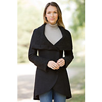 Women's Devlin Handmade Alpaca-Blend Wool Coat, Black, Size Xlarge (14-16) Western & Country