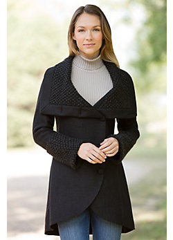 Women's Devlin Handmade Alpaca-Blend Wool Coat