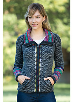 Women's Taylee Alpaca Wool Mix Knit Jacket