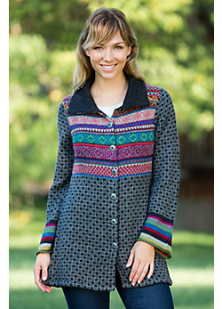 Women's Kaethe Alpaca Wool Mix Knit Coat
