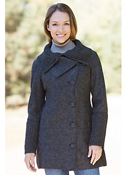 Women's Puno Alpaca-Blend Wool Coat