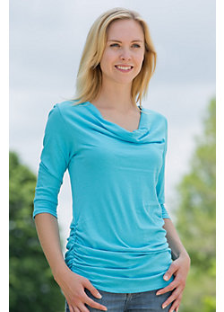 Women's Sheer Drape Organic Cotton Tee