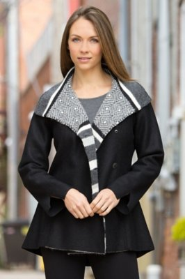 Fair Isle Alpaca-Blend Wool Jacket