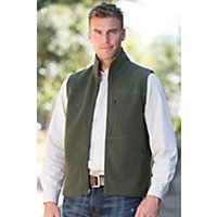 Men's Ibex Scout Merino Wool Vest, Green Bark / Heather Black, Size Xlarge (46-48) Western & Country