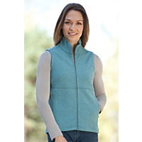 Women's Ibex Carrie Wool Vest, Blue Ice Heather, Size Medium (8-10) Western & Country