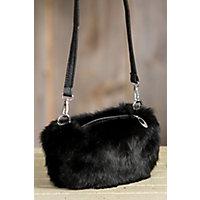 Women's Rabbit Fur Muff Purse, Black Western & Country
