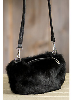 Women's Rabbit Fur Muff Purse