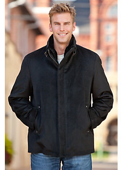 Men's Thurston Cashmere-Blend Wool Jacket with Shearling Lining
