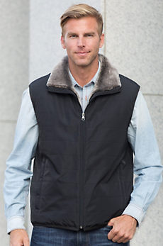 Maxwell Vest with Mouton Shearling Sheepskin Lining