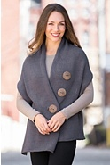 Women's Handmade Cotton Button Wrap